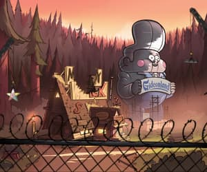 animation, forest, and mystery shack image
