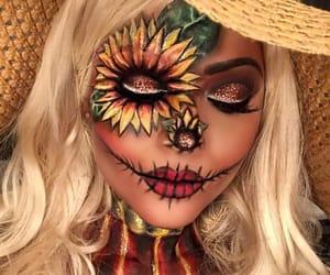 art, girl, and make-up image