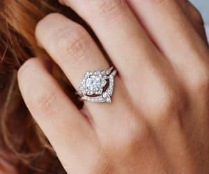 etsy, engagement ring, and diamond wedding ring image