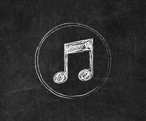 icons, music notes, and chalkboard art image