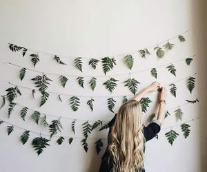 girl, hair, and decor image