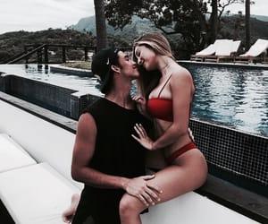 couple, theme, and kiss image