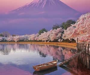travel, japan, and lake image