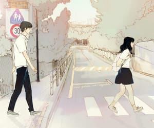 boy, illustration, and couple image