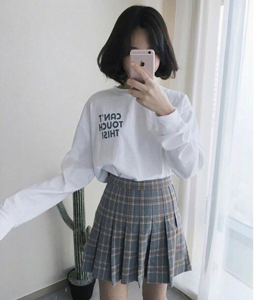fashion, korean, and white image