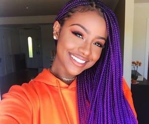 braid, purple, and orange image