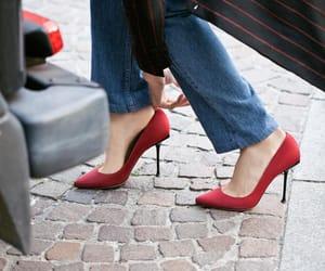 denim, heels, and jeans image