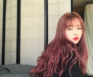aesthetic, asian girl, and bangs image