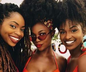 melanin, beach, and curls image