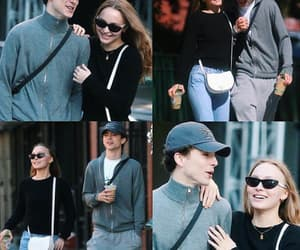 couple, lily rose depp, and cute image