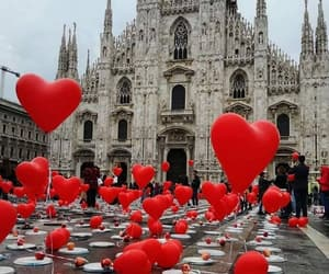 love, architecture, and balloons image