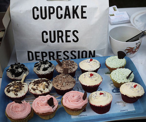 cupcake, food, and depression image