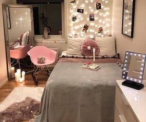 lights, grey, and pink image