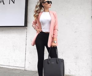 bags, blonde hair, and fashion image