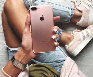 iphone, adidas, and pink image