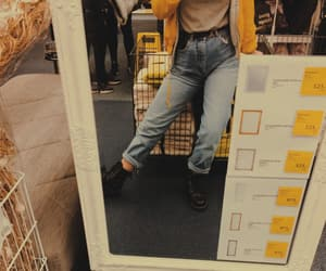 90s, mirror, and outfit image