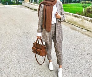 fashion, suit, and hijab image