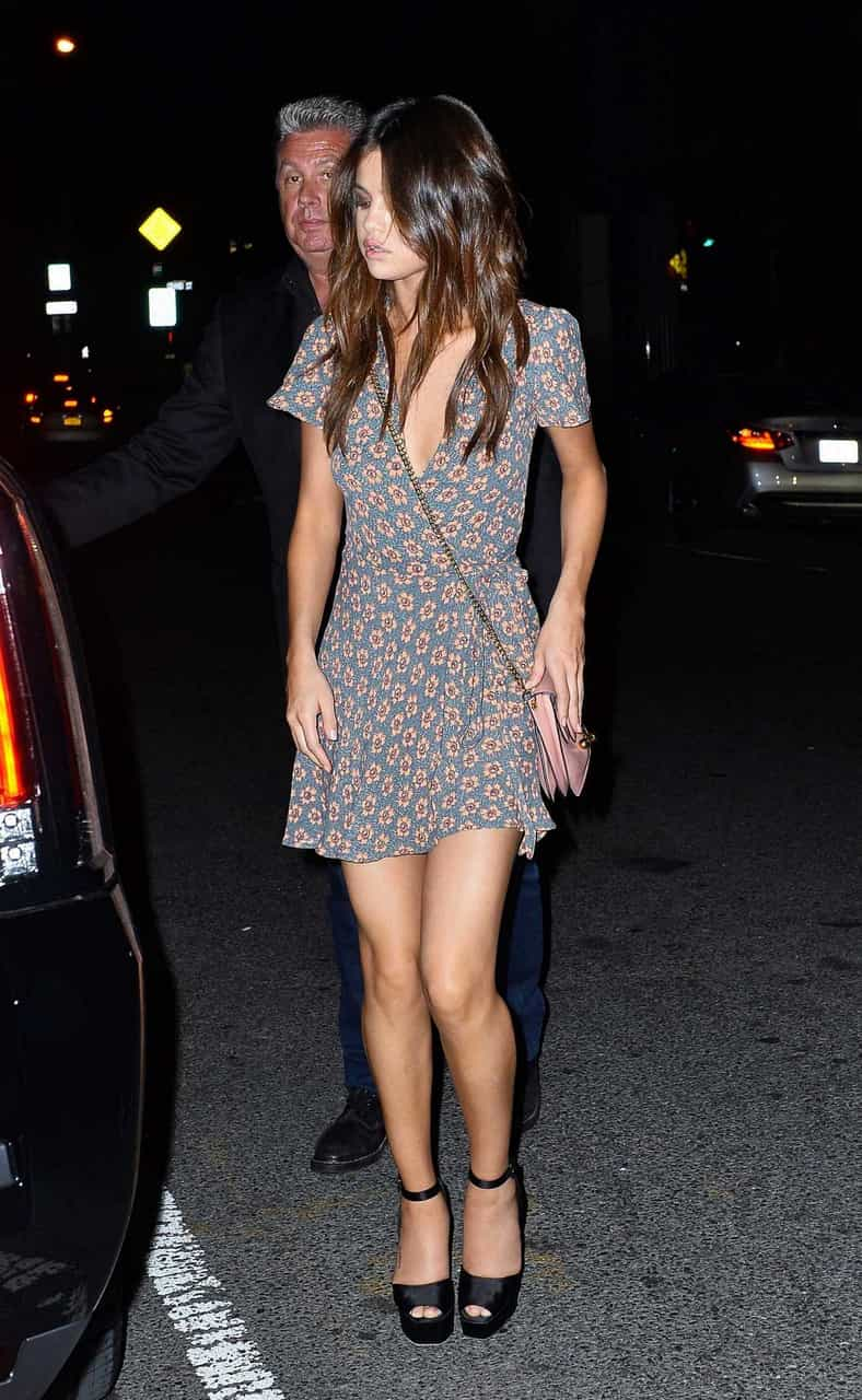 selena gomez, dress, and outfit image