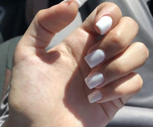 blanco, nails, and uñas image