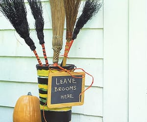 autumn, brooms, and broomstick image