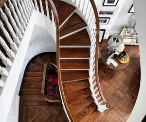 brownstone, decor, and stairs image