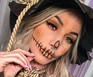 blonde, Halloween, and makeup image