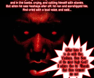 bible, Christ, and Devil image