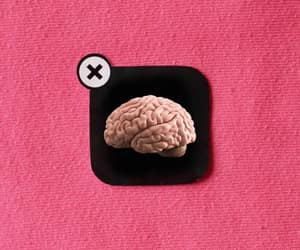 brain, delete, and pink image