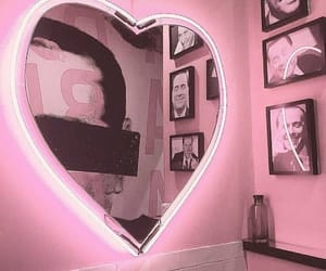 aesthetic, heart, and mirror image