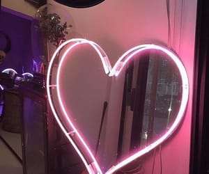 heart, pink, and mirror image