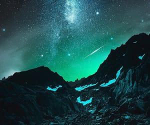 landscape, sky, and stars image