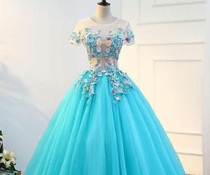 evening dress long, prom dress lace, and evening dress blue image
