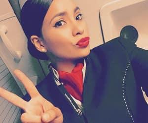 airplane, baggage, and fashion image
