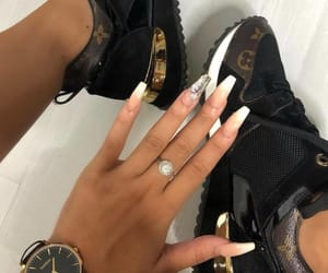 nails, shoes, and Louis Vuitton image