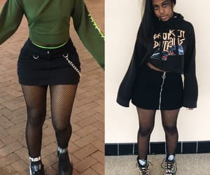 black girl, grunge, and outfit image