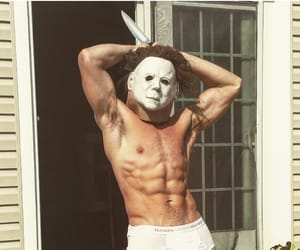 boys, Halloween, and muscles image