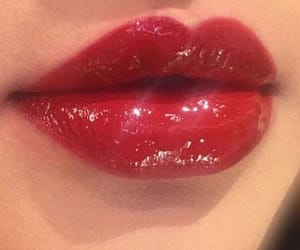 red, lips, and aesthetic image