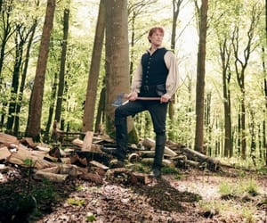 forest, woods, and jamie fraser image