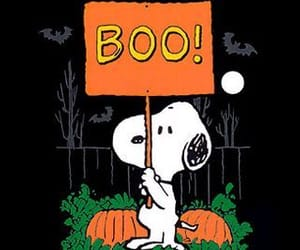 snoopy, boo, and Halloween image