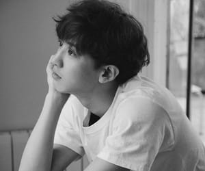 black and white, boy, and exo image