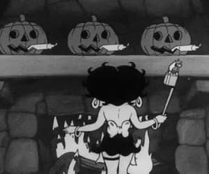 autumn, black and white, and Halloween image