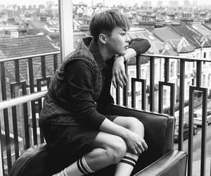 black and white, boy, and korean boy image
