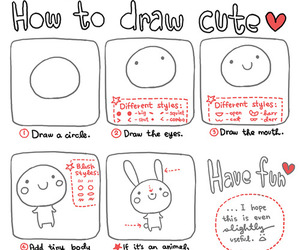 cute, draw, and drawing image