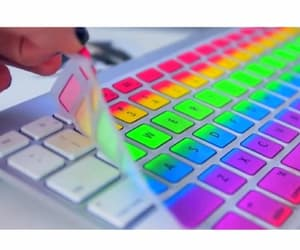 colors, electronic, and keyboard image