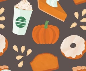 fall, autumn, and donut image