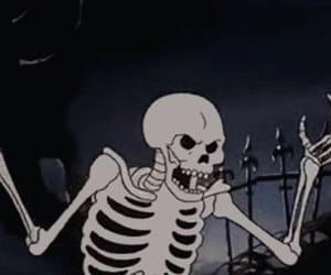 skeleton and grunge image