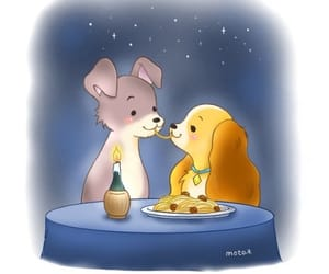 dog, disney, and lady and the tramp image