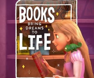 books, bookworm, and disney image