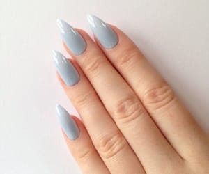 girl, nails, and blue image