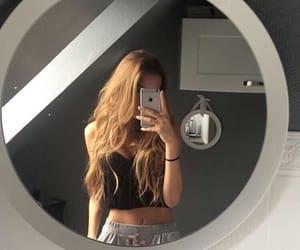 girl, tumblr, and mirror image